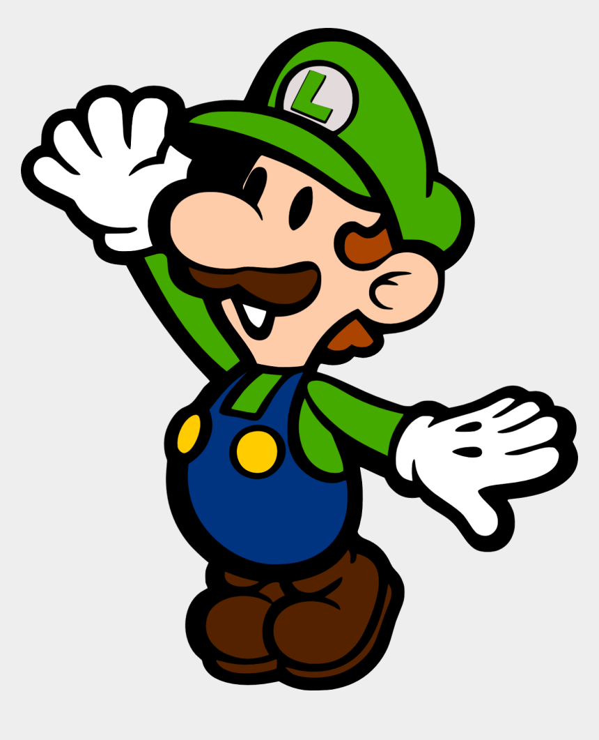 Mario Clipart Svg Paper Luigi Cliparts Cartoons Jing Fm