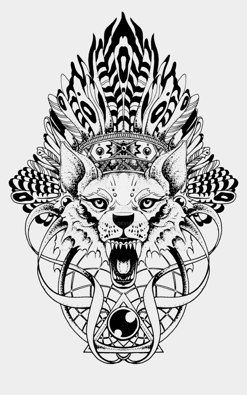 paisley clipart, Cartoons - Paisley Drawing Wolf For Free Download - Wolf Totem Pole Tattoo