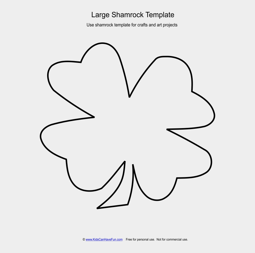 kleeblatt clipart, Cartoons - 4 Best Images Of Shamrock Hat Template Printable Large - Template Printable Shamrock Large