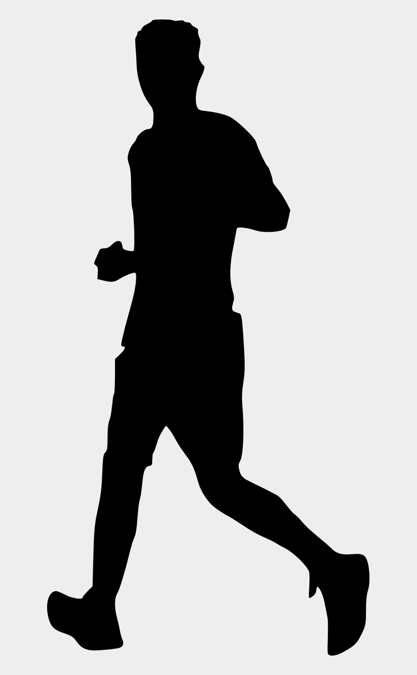 running man clipart, Cartoons - Running Silhouette Png - Man Running Silhouette Transparent Background