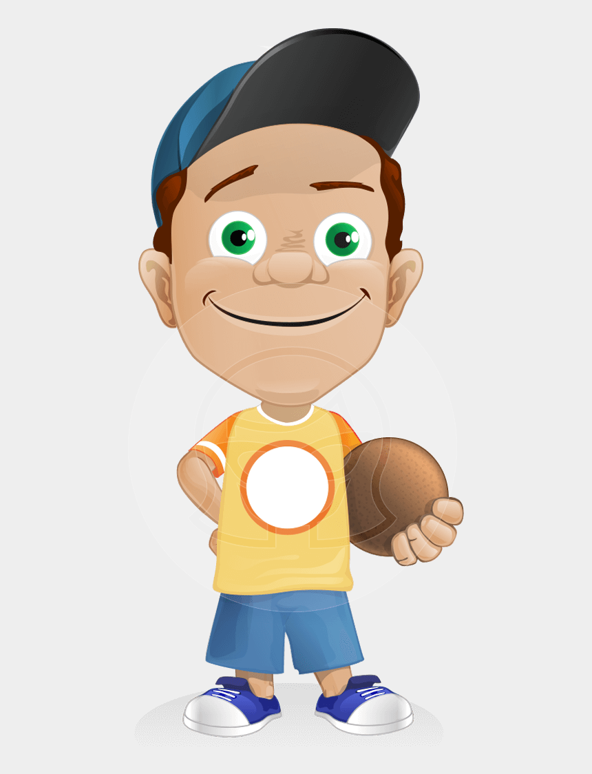 boy running clipart, Cartoons - A Sporty Little Boy Vector Character Wearing A Baseball - Cartoon Characters Playing Sports