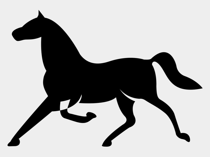running horse clipart, Cartoons - Horse Of Thin Elegant Black Shape In Running Pose Comments - Veikkaus Kortti