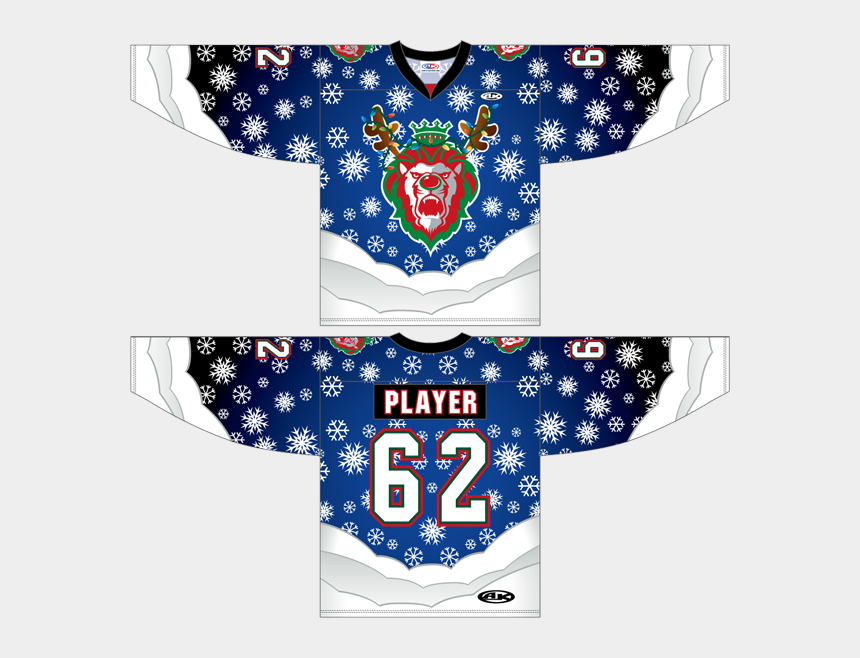 christmas in july clipart, Cartoons - The Jersey Features Snowflakes, Snow Piles, And Some - Ugly Christmas Hockey Jerseys