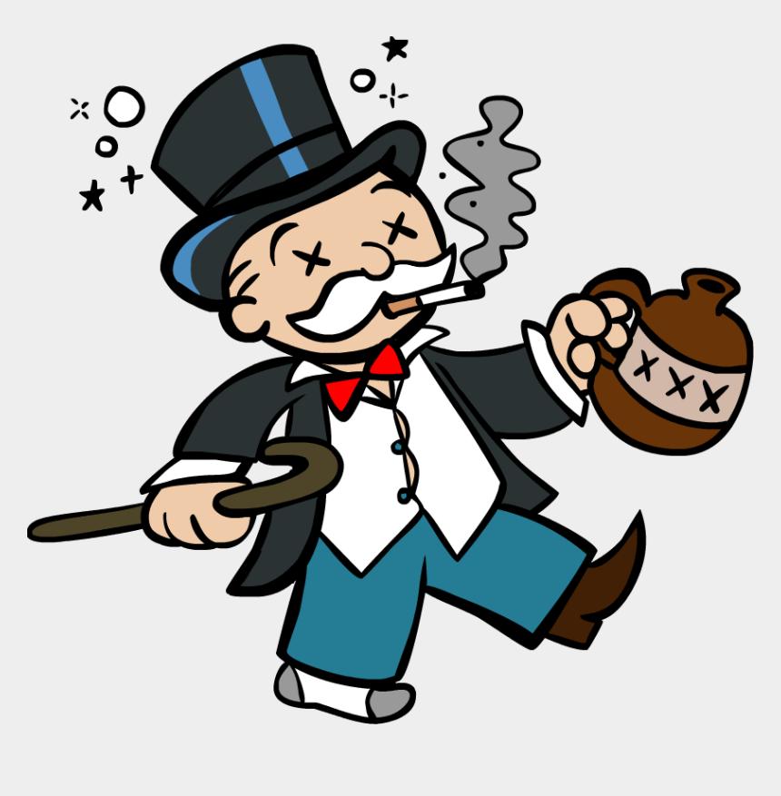 monopoly clipart, Cartoons - Fishing Clip Drunk - Transparent Monopoly Guy