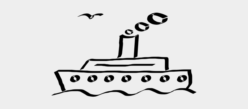 cruise clipart, Cartoons - Cartoon Drawings Of Ships - Ferry Black And White