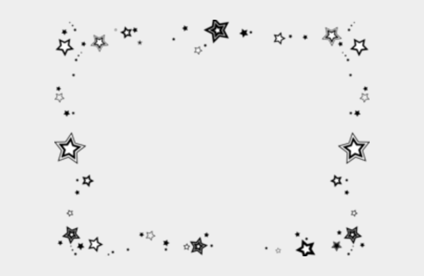 night sky clipart, Cartoons - Night Sky Clipart Border - Star Page Border Black And White