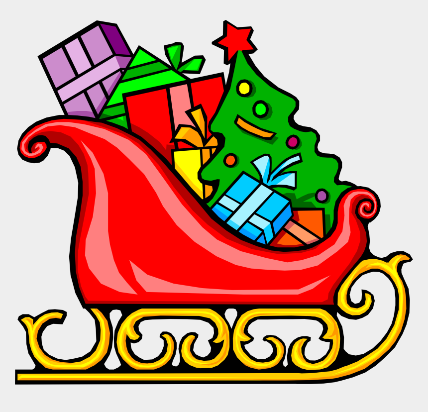 christmas tree with presents clipart, Cartoons - Presents Clipart Lot Presents - Sleigh Clipart