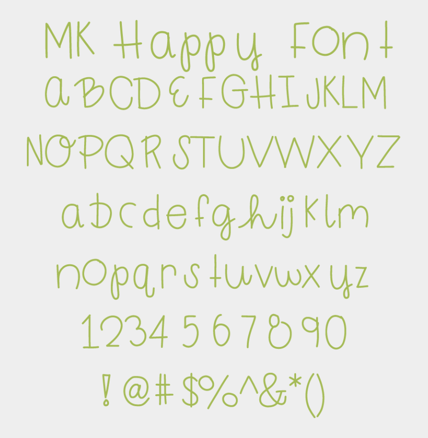 font clipart, Cartoons - Happy Fonts