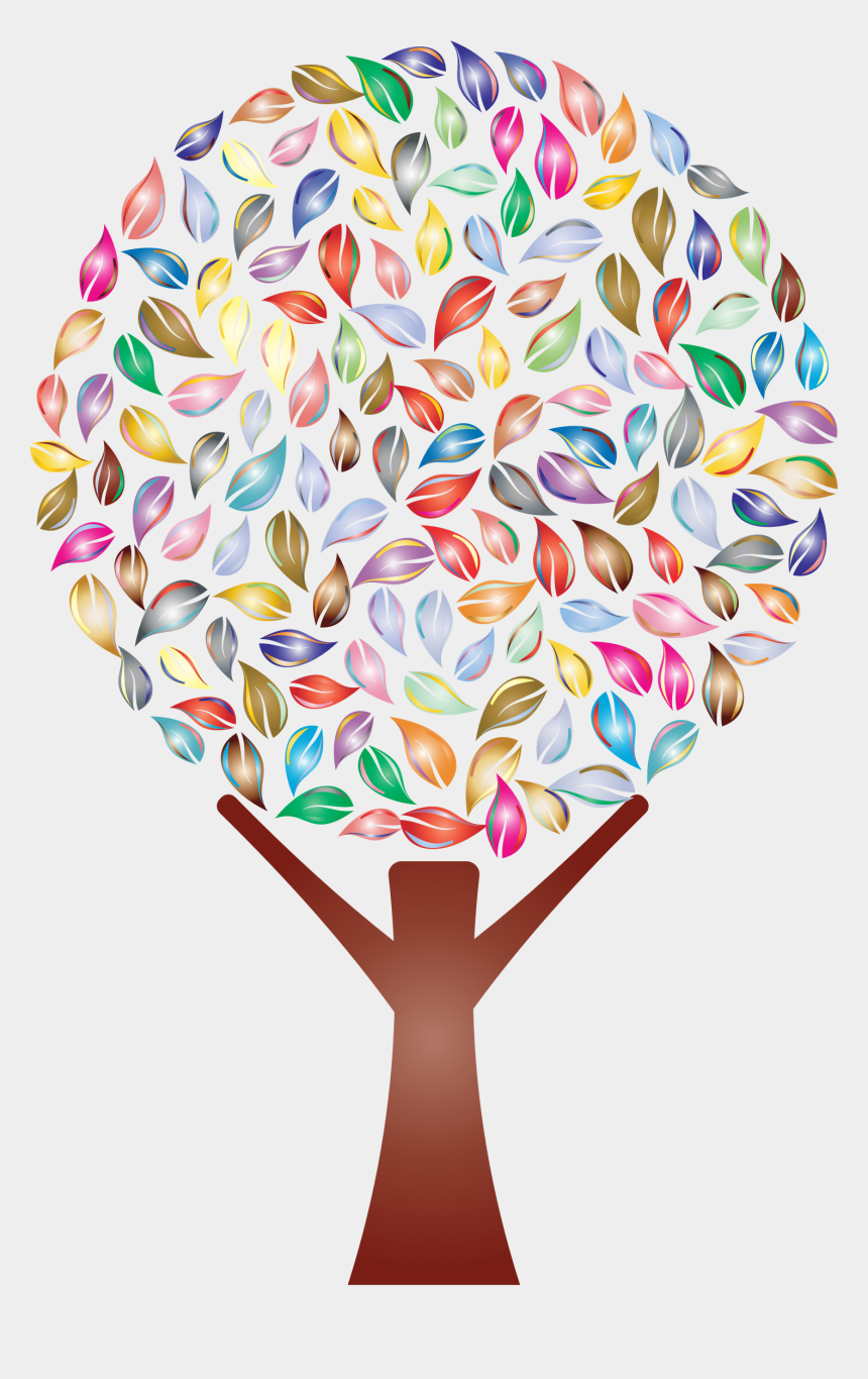 big tree clipart, Cartoons - Prismatic No Background Big Image Png - Colorful Tree Logo Png