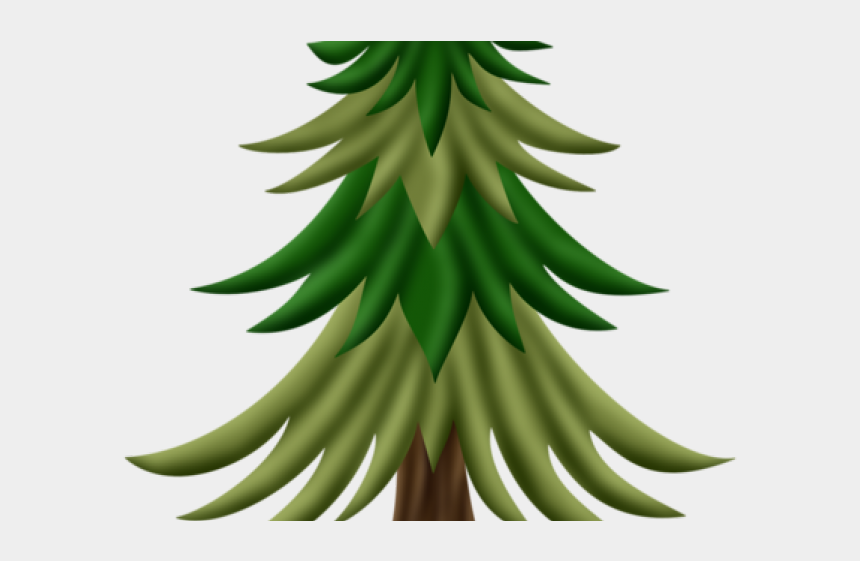 fir tree clipart, Cartoons - Fir Tree Clipart Woodland Tree - Saba Banana