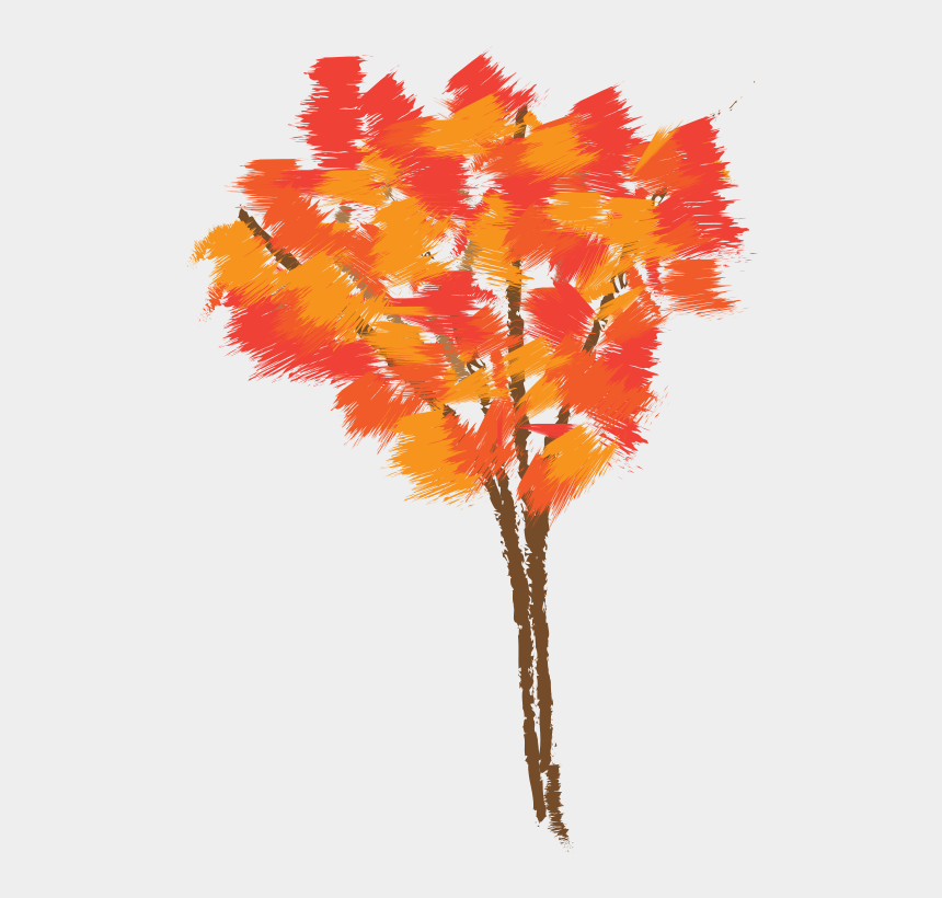 autumn tree clipart, Cartoons - Drawing Of Tree And Color
