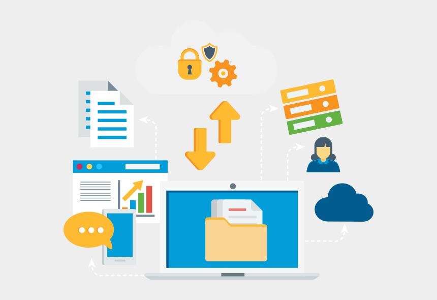 how to make digital clipart, Cartoons - Content Cloud - Digital Ecosystem Icon Transparent
