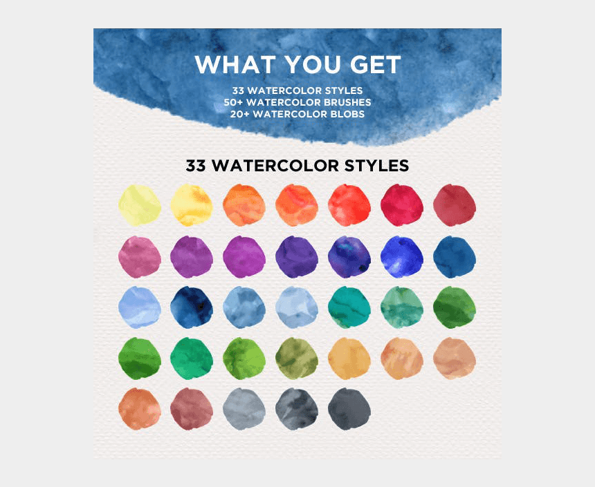 how to make watercolor clipart, Cartoons - Watercolor Design Kit - Eye Shadow