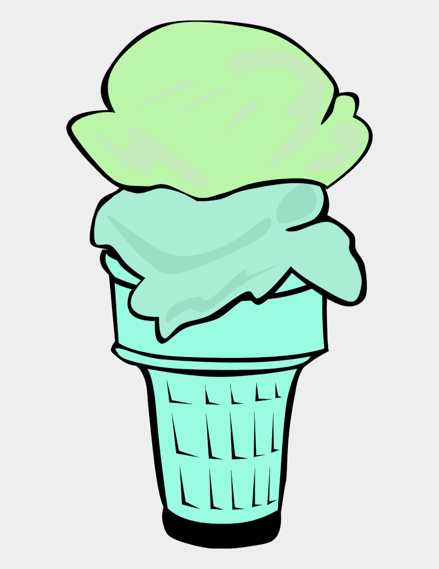 food clipart vector, Cartoons - Ice Cream Cone For Fast Food Menu - 1 Scoop Of Ice Cream Cartoon