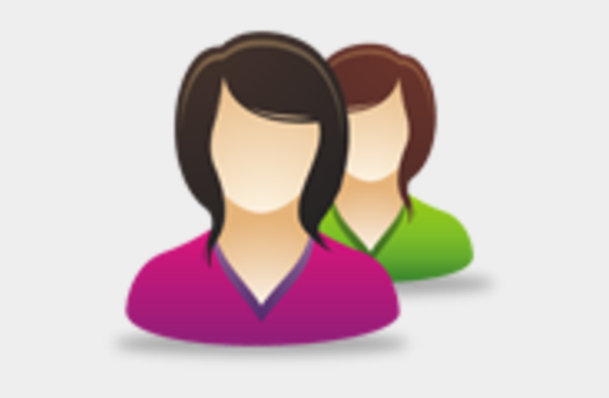 refer a friend clipart, Cartoons - Female Users Image - Woman User Group Icon