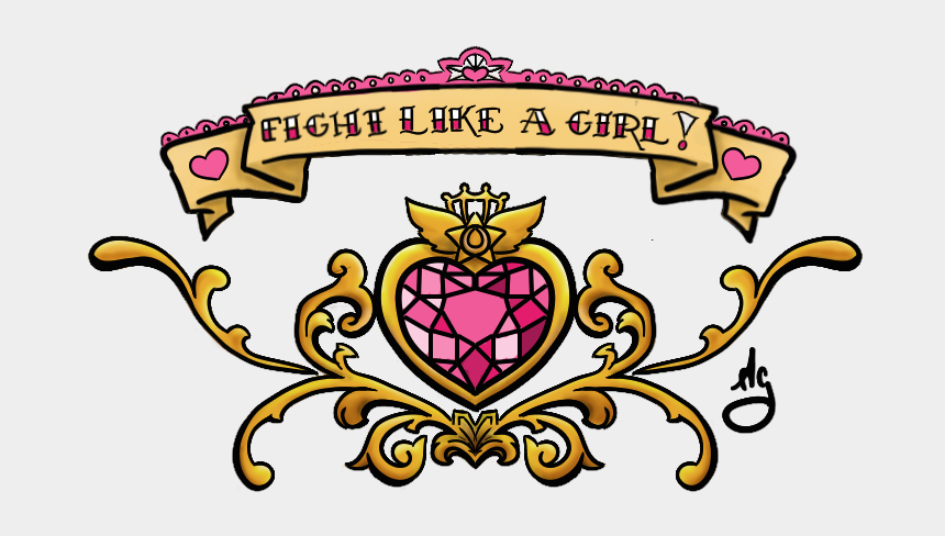 fight like a girl clipart, Cartoons - Fight Like A Girl Lower Back - Fight Like A Girl Sailor