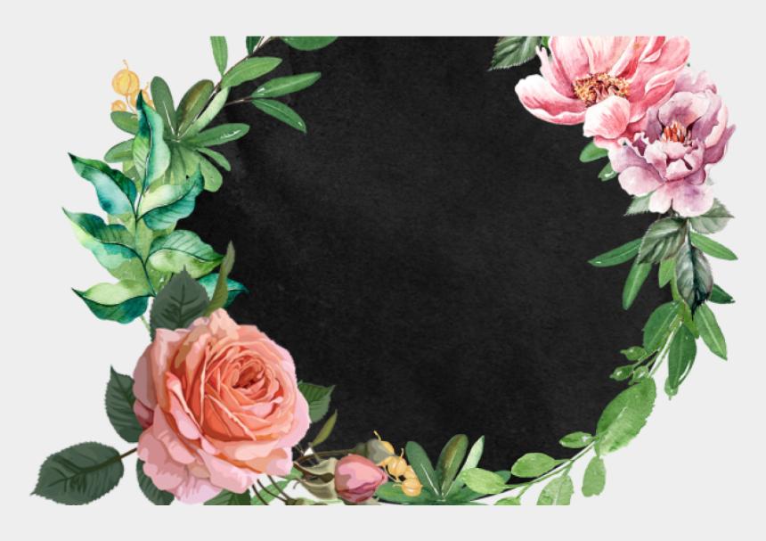 watercolor wreath clipart, Cartoons - Beautiful Hand Paint Watercolor Floral Wreath, Flower, - Watercolor Painting