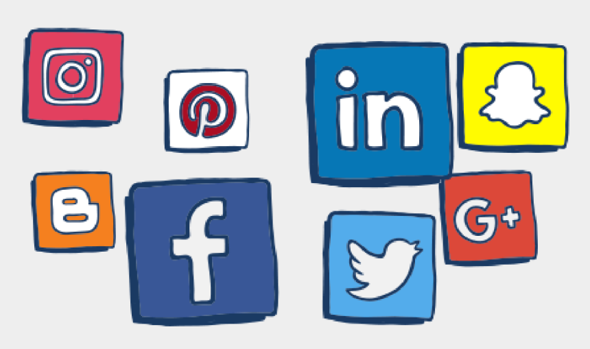 social media icons clipart, Cartoons - Things To Be Aware Of On Social Media - Aware On Social Media