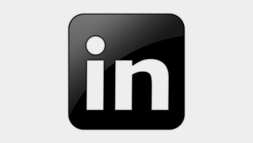 social media icons clipart, Cartoons - Clipart Wallpaper Blink - Linkedin Icon Zwart Wit