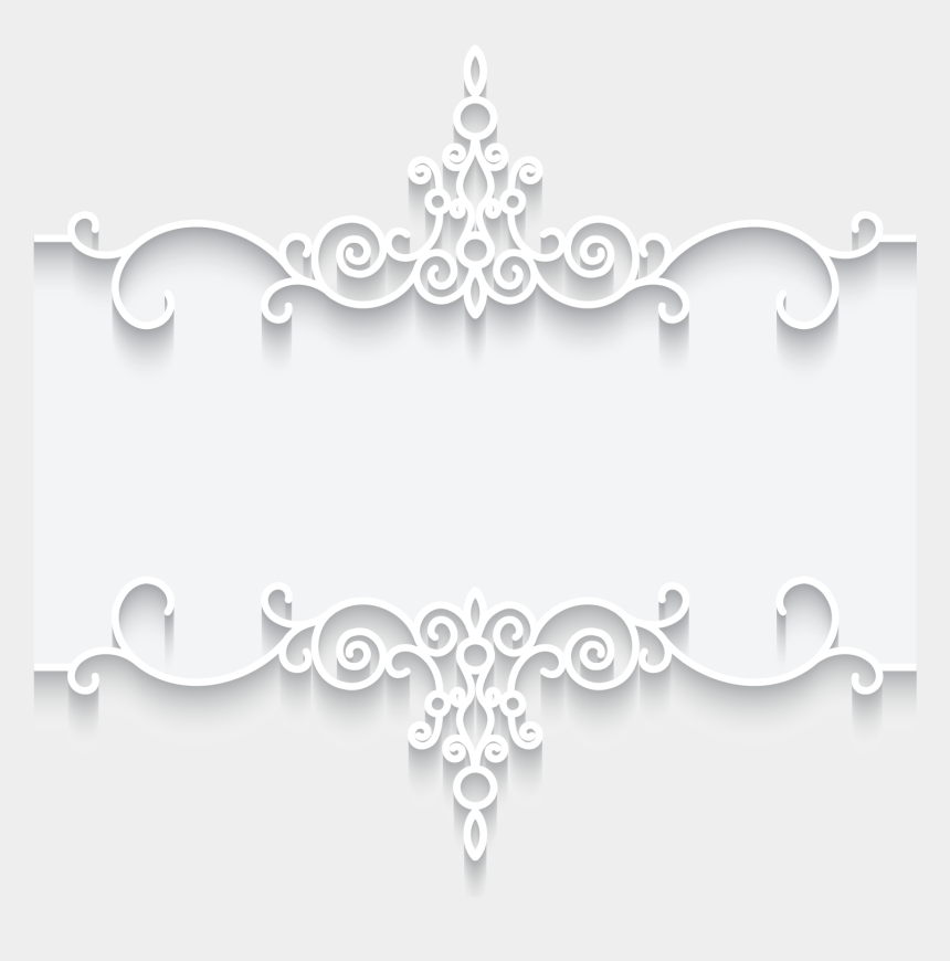 lace clipart vector, Cartoons - Picture Vector Lace Pattern Frame Illustration Textile - White Lace Border Pattern