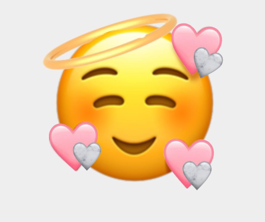 angel emoji clipart, Cartoons - #cute #heartemoji #emoji #love #pink #marbke #angel - New Heart Face Emoji
