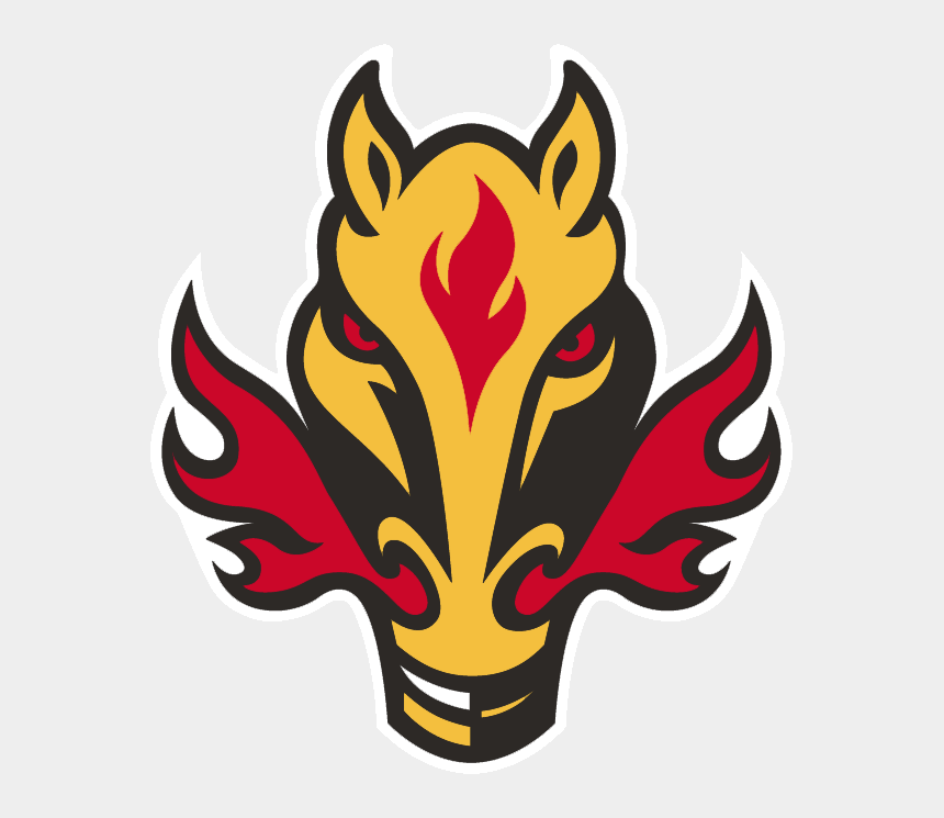 flaming hockey puck clipart, Cartoons - Calgary Flames Alternate Logo - Calgary Flames Horse Logo