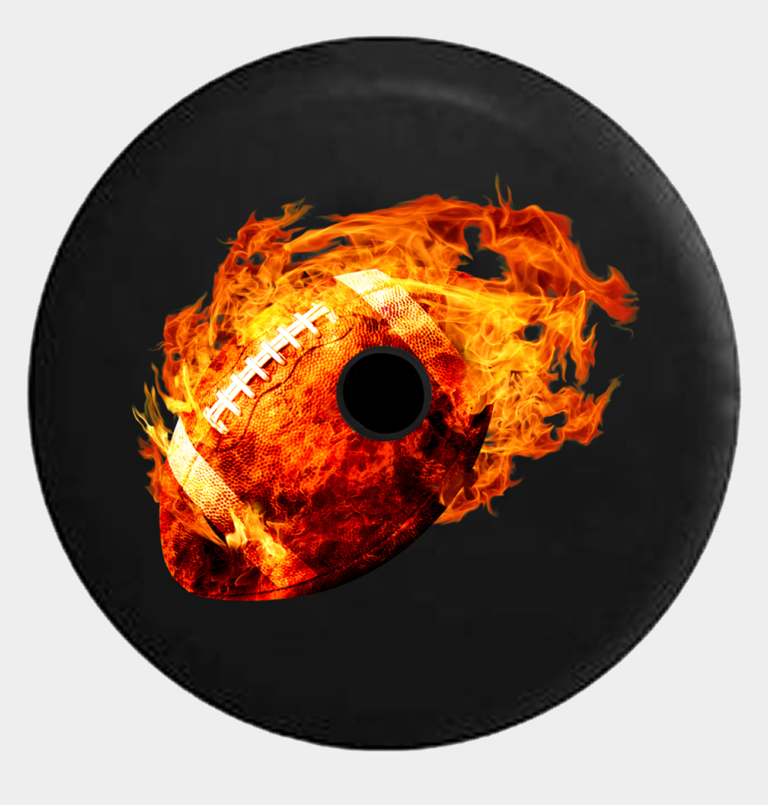 flaming hockey puck clipart, Cartoons - Jeep Wrangler Jl Backup Camera Day Football On Fire - Tire Cover For Jeep Wrangler Soccer