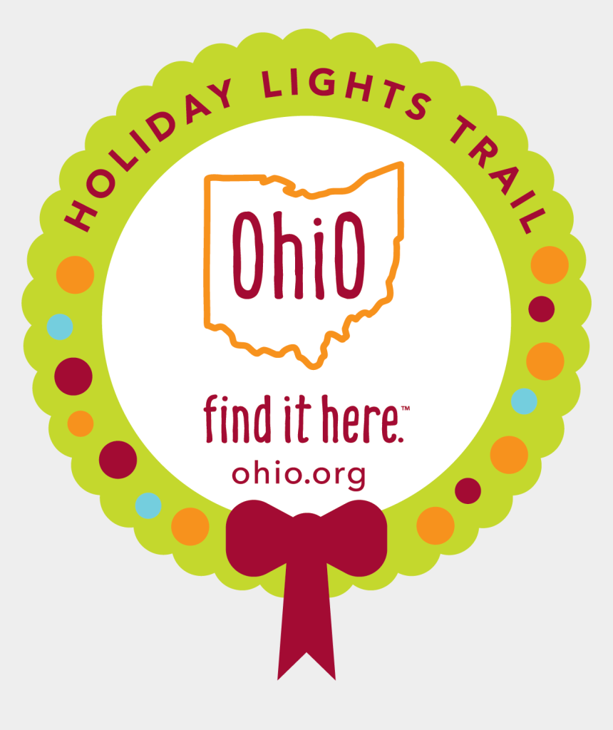 ohio map clipart, Cartoons - Holiday Lights Trail - Ohio Find It Here Logo