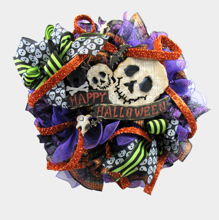 halloween wreath clipart, Cartoons - Tutorials Happy Halloween Skull - Skull Halloween Happy Halloween Images Hd