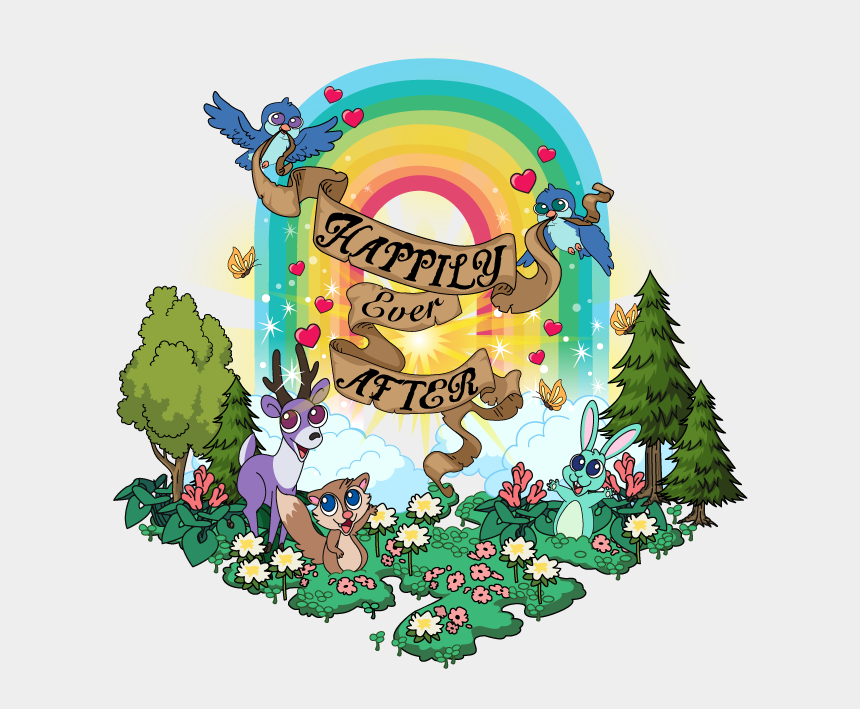 happily ever after clipart, Cartoons - Happily Ever After Rainbow - Illustration