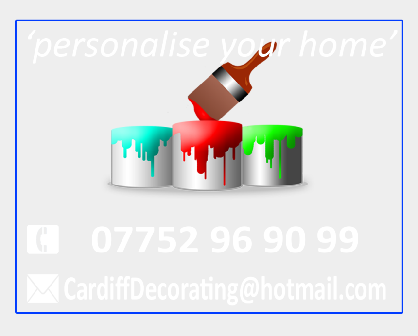 wallpapering clipart, Cartoons - Cardiff Painting Logo Info Tagline1 - Graphic Design