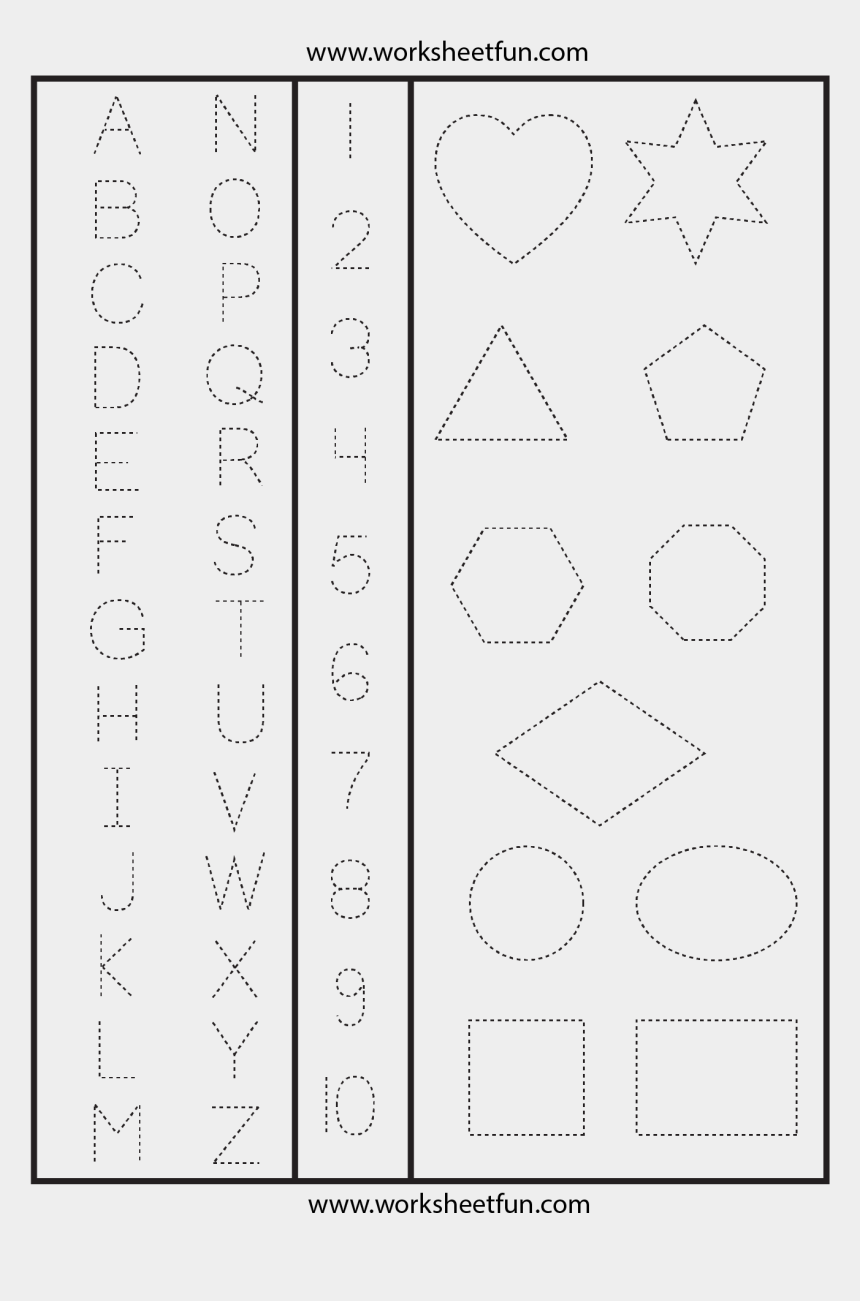 graphic about Printable Letters and Numbers named Letters Quantities Designs Tracing Worksheet - Printable Hint