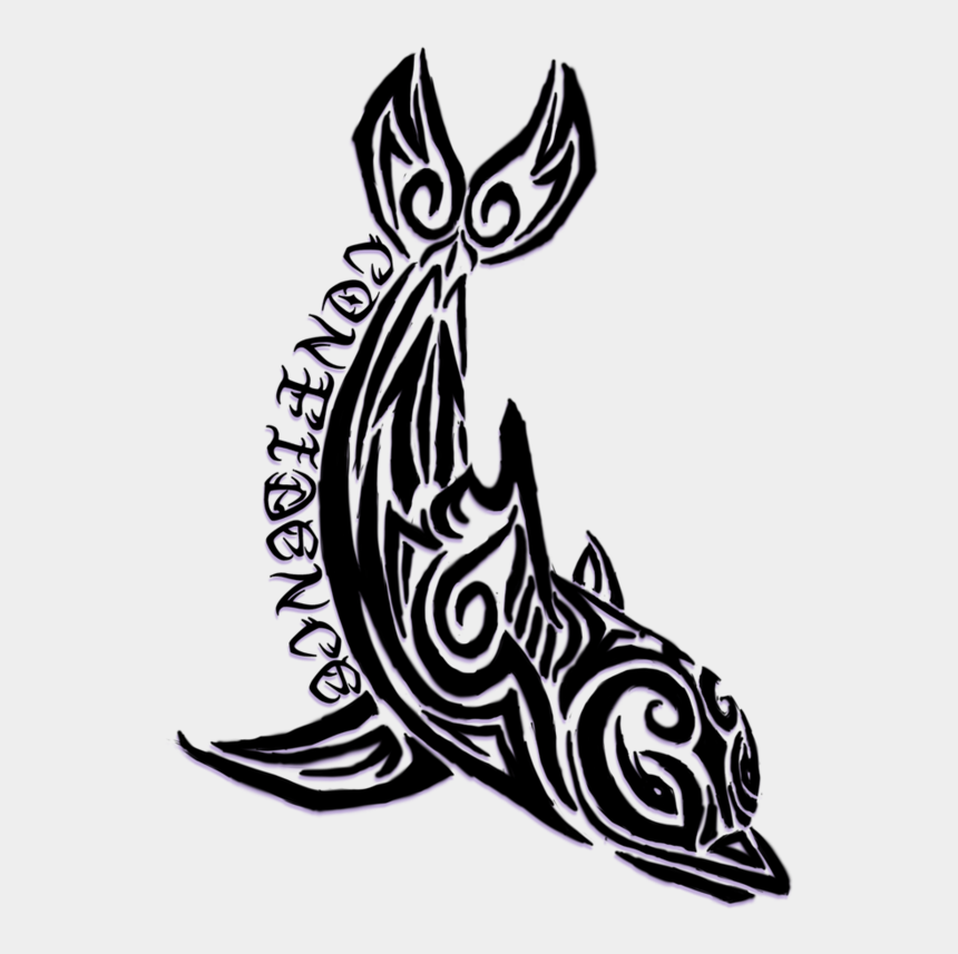 cross tattoo clipart, Cartoons - Dolphin Tattoos And Designs - Tribal Dolphin Tattoos