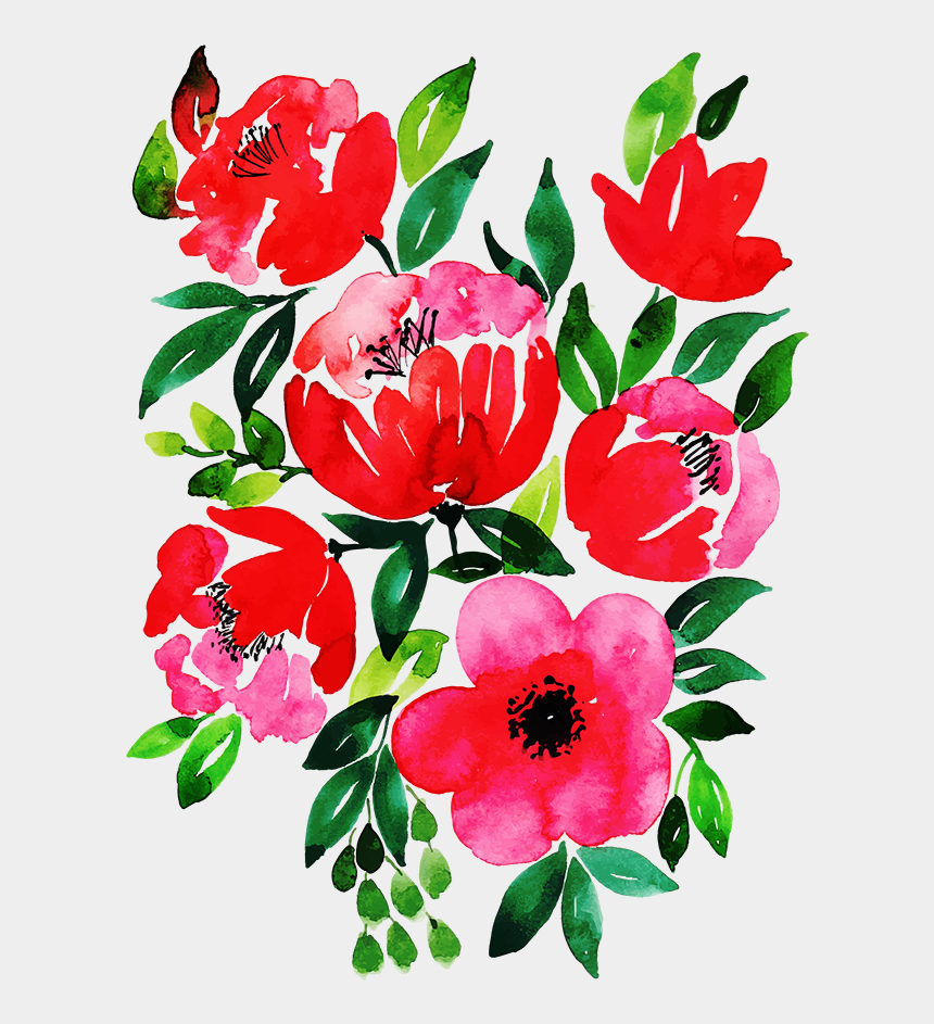free floral clipart designs, Cartoons - Free Png Floral Bouquets - Watercolor Painting
