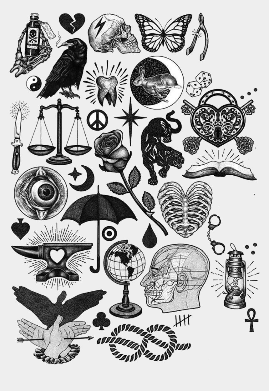 Palzogony Black Work Tattoo Flash Cliparts Cartoons Jing Fm