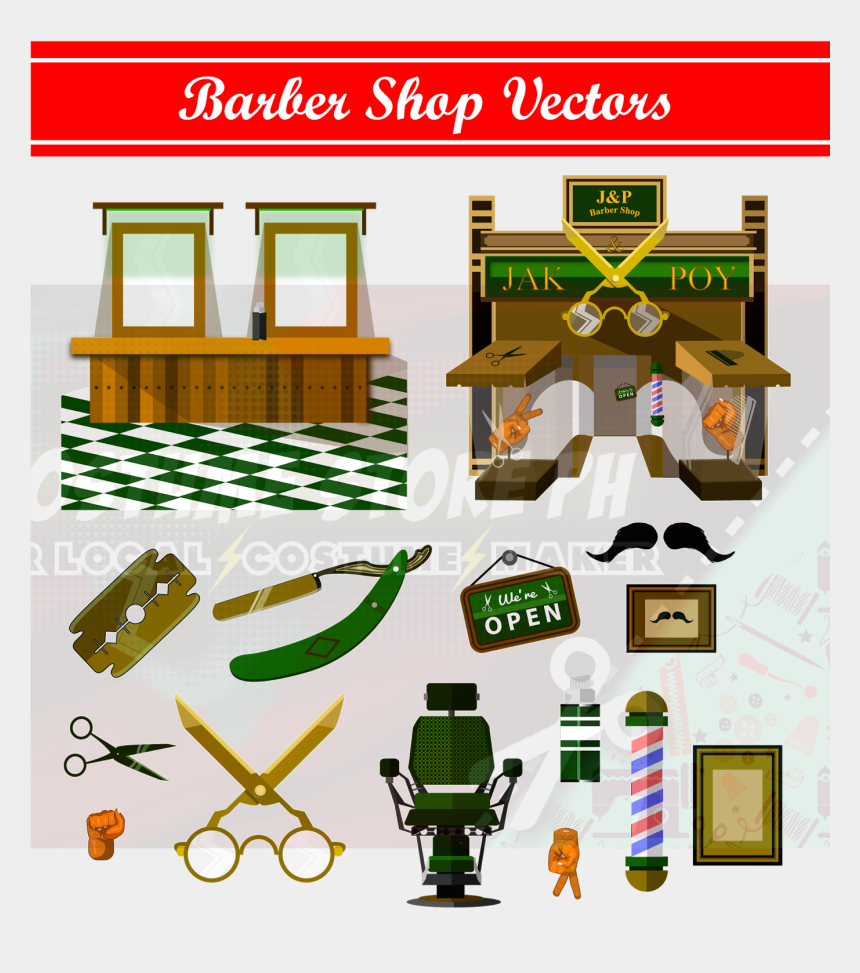 vector clipart for sale, Cartoons - Barber Shop For Sale Costume Store Ph Ⓒ - Graphic Design