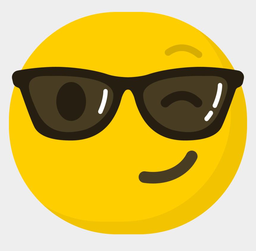 sunglasses emoji clipart, Cartoons - Emoticon Smiley Emoji Computer Icons Clip Art - Komik Emojiler Png