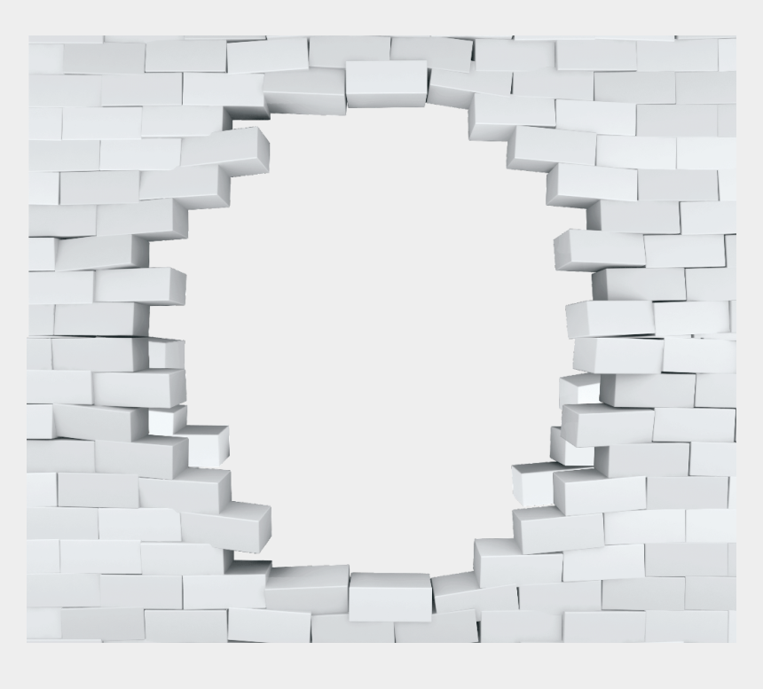 cracked brick wall clipart, Cartoons - #ftestickers #wall #brick #cracks #hole #3deffect #stereoscopic - Png Hole In Brick Wall