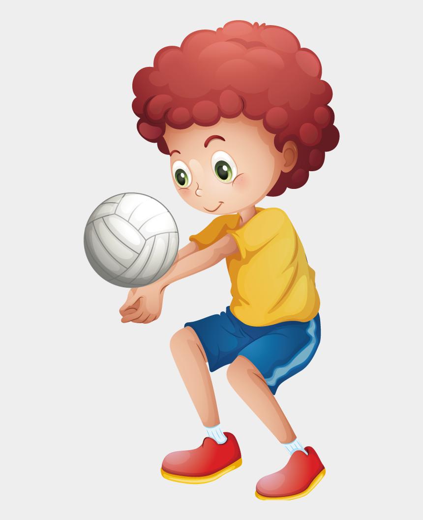 kids playing volleyball clipart, Cartoons - Sport Child Volleyball Illustration - Boy Playing Volleyball