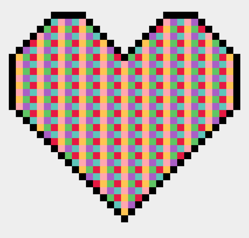 polka dot heart clipart, Cartoons - Pixel Art Heart - Kawaii Pixel Heart Png