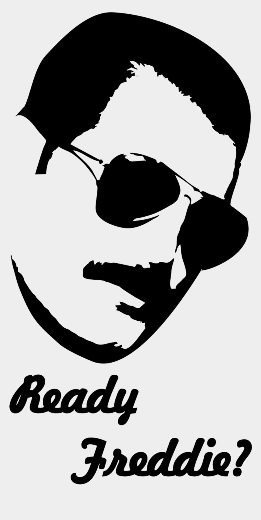 Stencil Of Freddie Mercury From Queen With A Quote