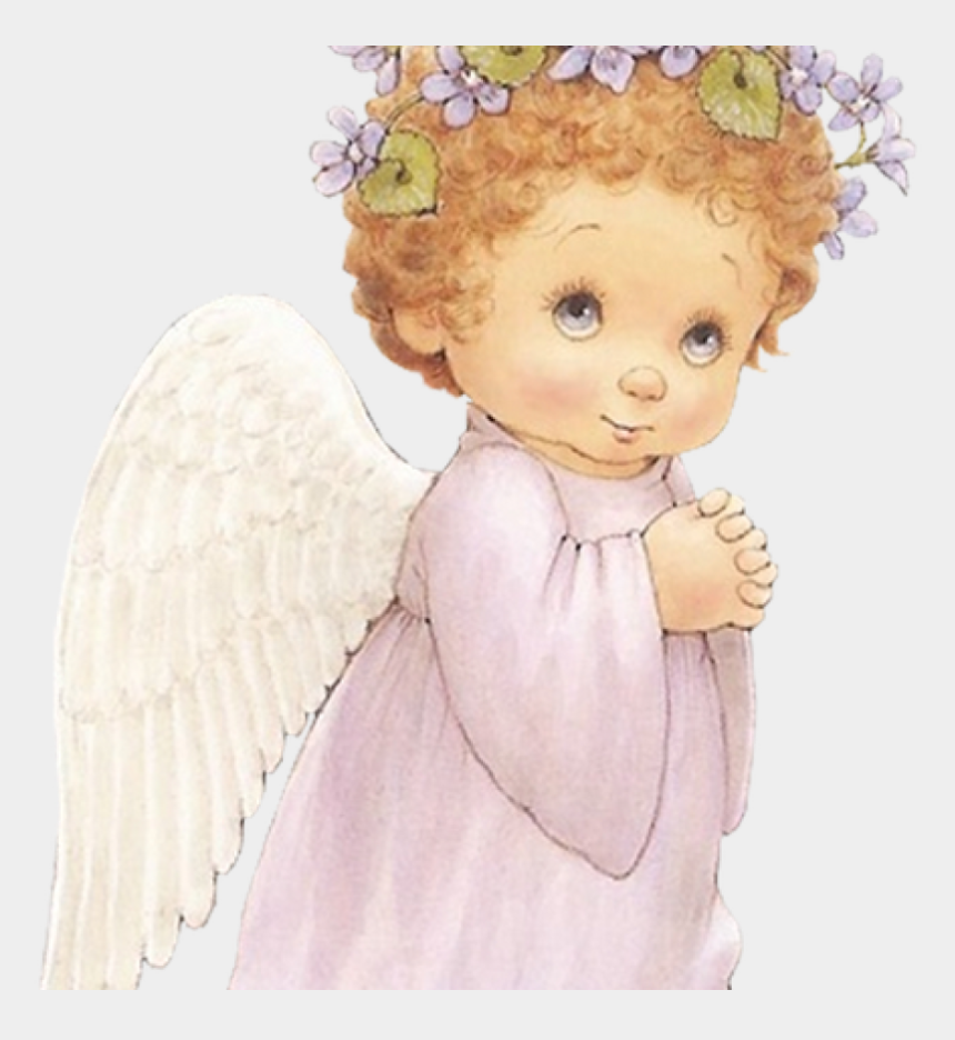 cute clipart pinterest, Cartoons - Cute Angel With Purple Flowers Free Clipart Angel Pinterest - Little Angels