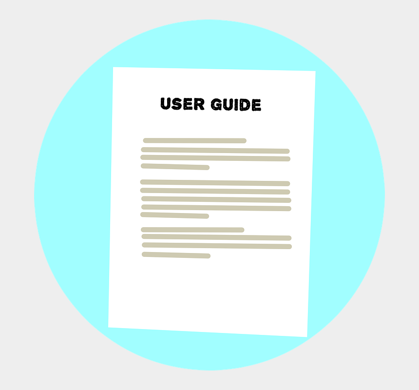 user manual clipart, Cartoons - User Guide, Instructions, Text, Sheet - User Guide