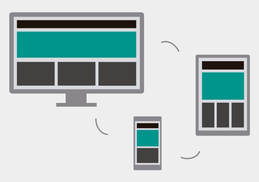 responsive clipart, Cartoons - Vector Screen Responsive Design - Progressive Web App Desktop