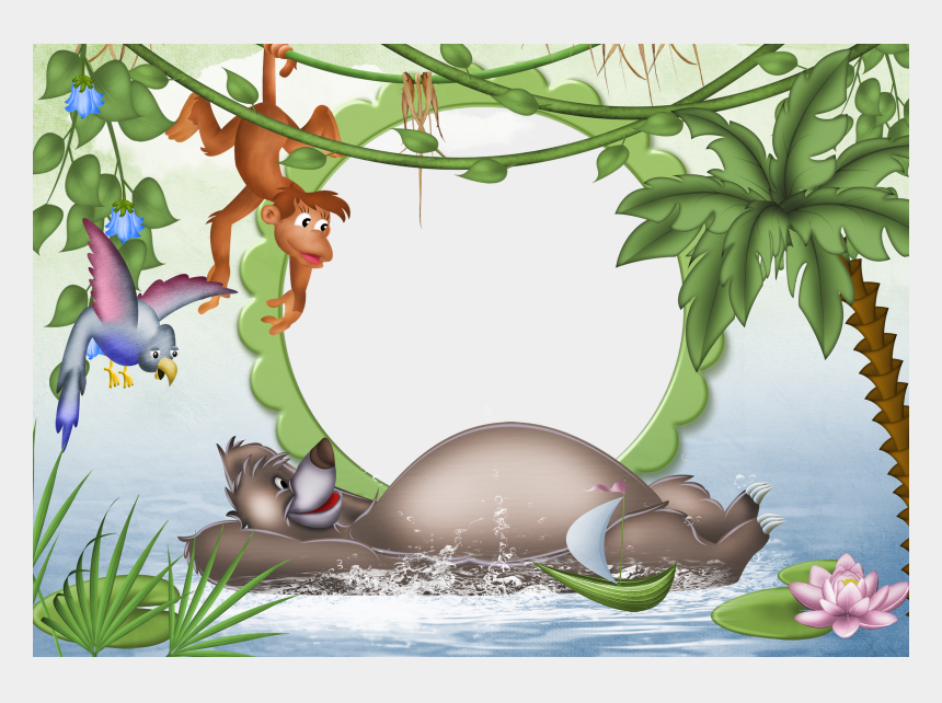 zoo animal clipart border, Cartoons - Jungle Clip Art Borders Free - Jungle Book Picture Frame