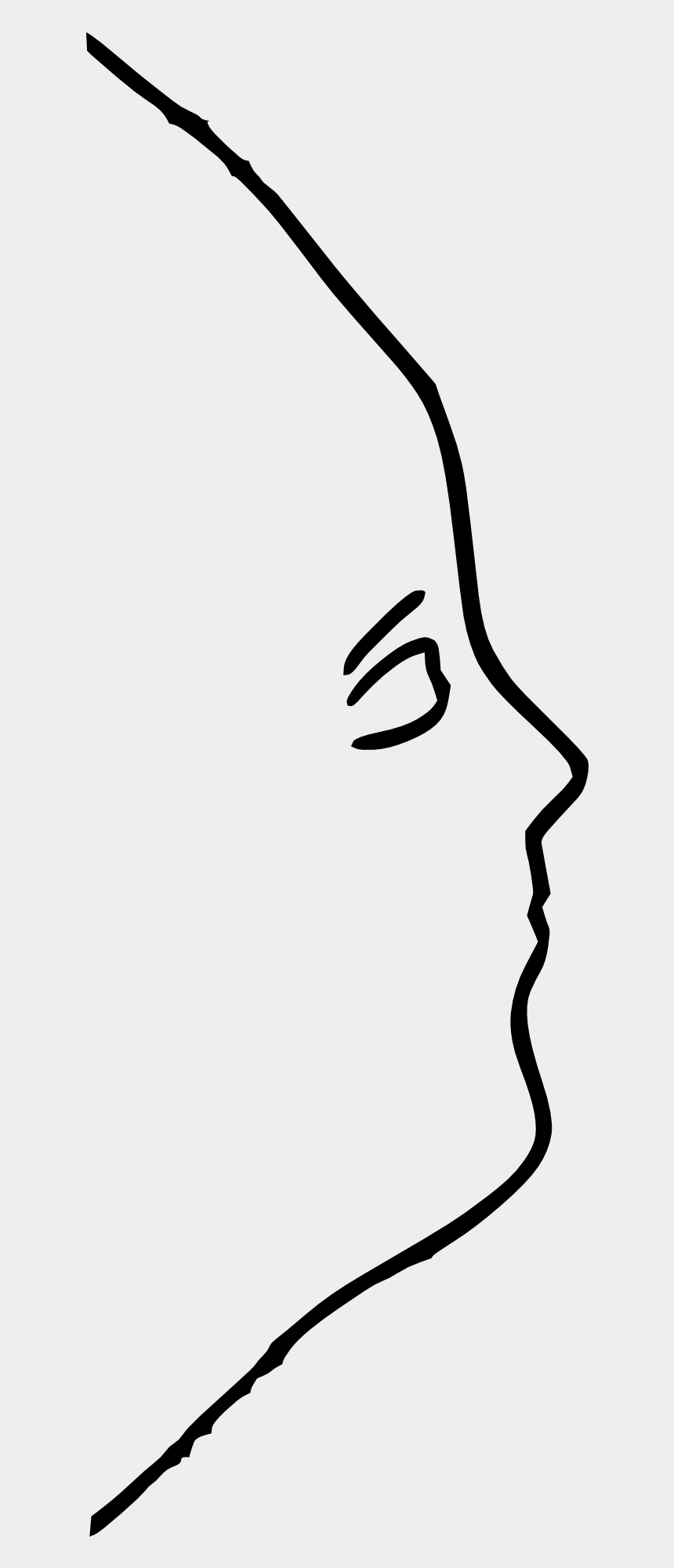 ugly woman clipart, Cartoons - Outline Of Woman's Face Side View