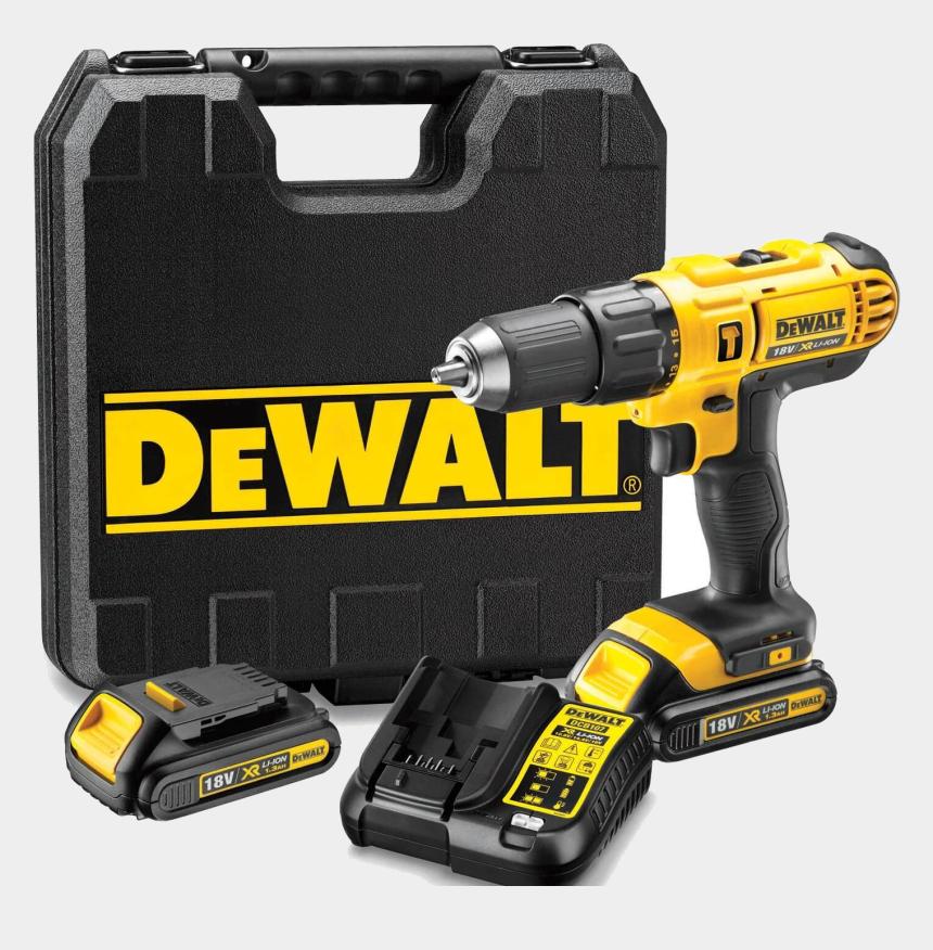 power tool clipart, Cartoons - Dewalt Clip Drill - Dewalt 18v Xr Li Ion