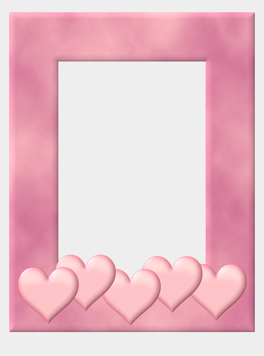 whimsical frame clipart, Cartoons - Free Printable Frames In Pink With Hearts - Png Transparent Valentines Day Frames