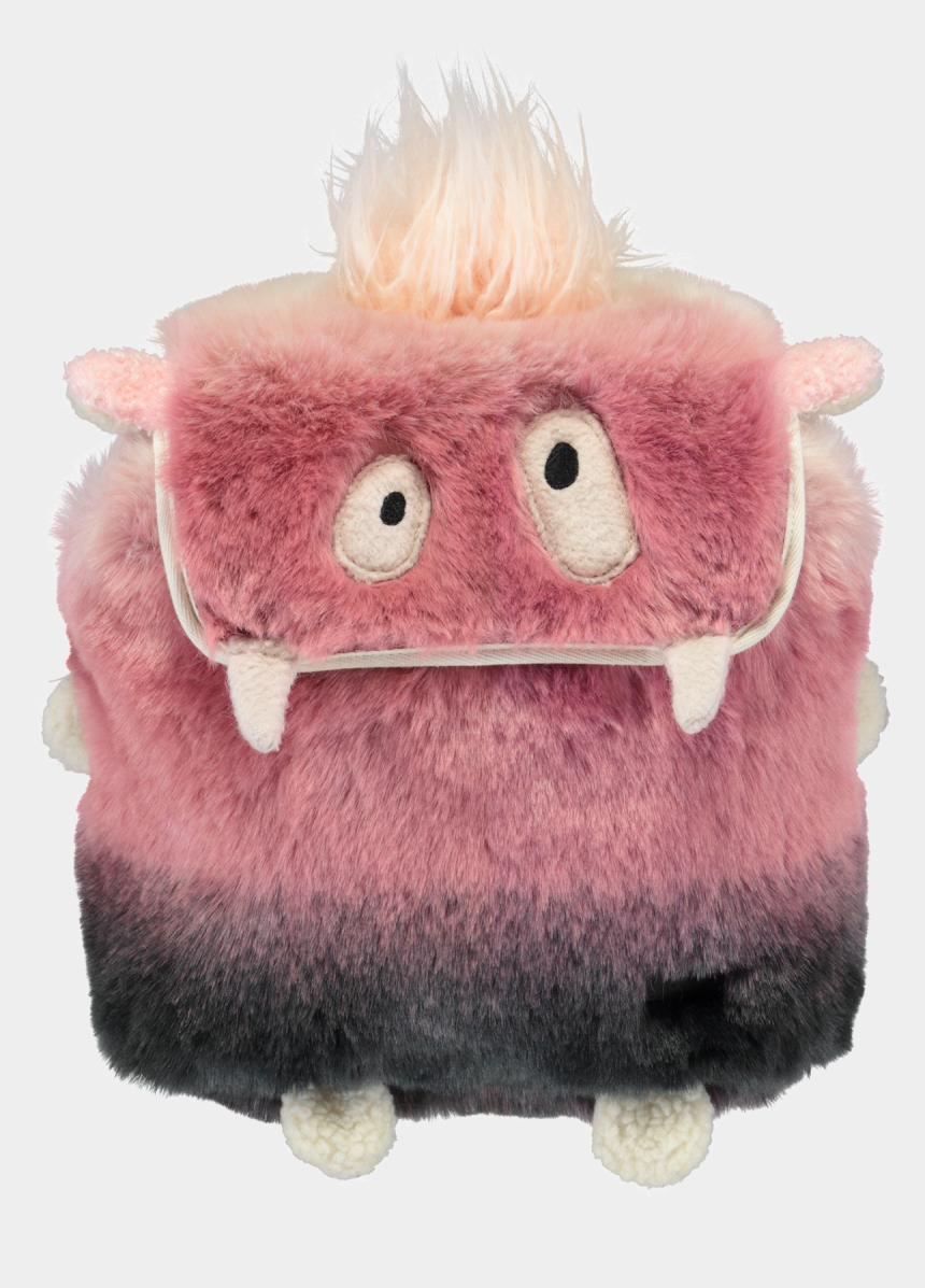valuables clipart, Cartoons - Pink Fluffy Kids Mini Backpack - Stuffed Toy