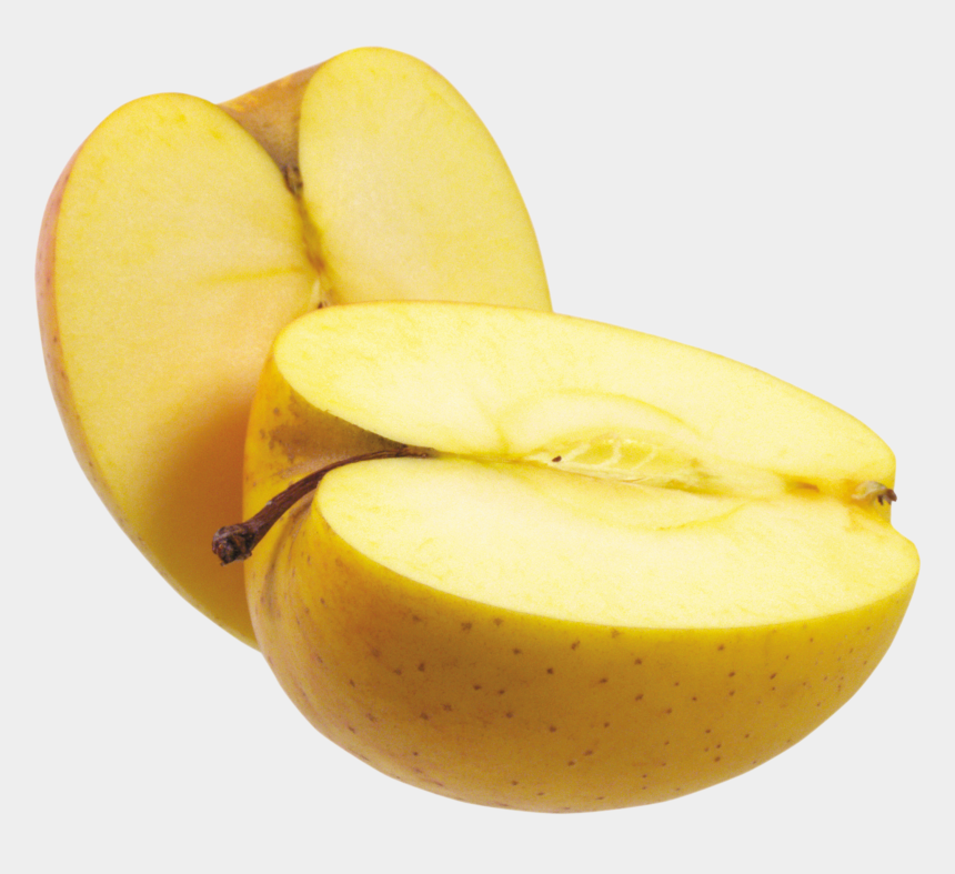 sliced apple clipart, Cartoons - Cut Apple Png - Yellow Apple Png